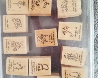 Stampin' Up A Little Love set of 12