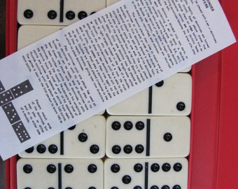 "Vintage 70's ""Domino"" by Cardinal Set - Large Domino Tiles - Dots - Chip Game - Game Night - Dominoes - Travel Game - Domino Tile Game"
