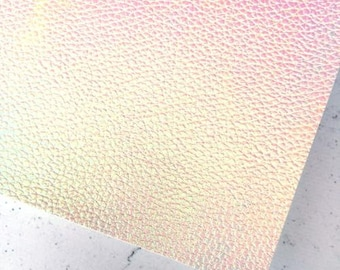 White oil slick - textured Faux Leather