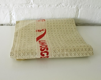 Vintage French Tea Towel Torchon - French Linen Kitchen Towel - Linvosges tea towel - French decor
