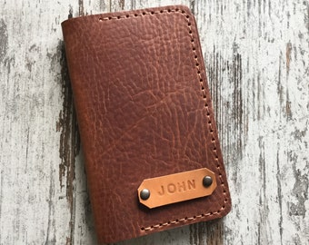Personalized  Field Notes Cover Field Notes Wallet Moleskine Pocket Cover Journal Cover Gift for Him Groosmen Gift Full Grain Leather