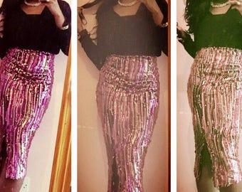 Handmade Skin tight sparkling skirt