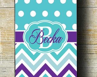 Teal iPhone Case, purple case, teal iphone case, iphone 7 case, iphone 6 plus case, iphone 6 case, iphone monogram, custom iphone, iphone 5
