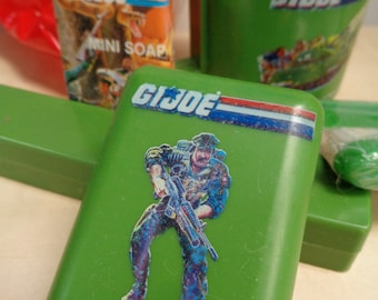 G I JOE,A Real American Hero,1987,Health and Beauty Aid, Child's Bathing Set,Action Figure Accessory,Vintage,Fine in Good Package