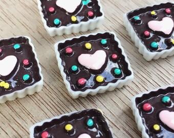 19x19mm.Miniature Cabochon Cupcakes,Miniature Cupcakes,Cabochons,Resin,Miniature Sweet,Miniature Cookie,Miniature cake,DIY