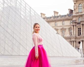 OLIVIA skirt - Tutu Tulle Midi Length Skirt Underskirt