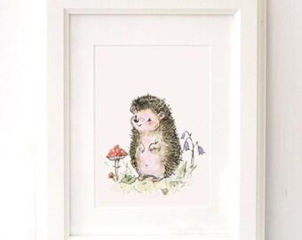 Baby Hedgehog Nursery Print