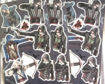 Assassin's creed stickers 01
