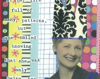 Many Patterns Greeting Card