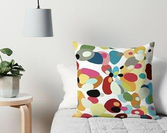 Retro Pillow, Abstract Pillow, Art Pillow, Couch Pillow, Accent Pillow, Throw Pillow, Toss Pillow, 16x16 18x18 20x20 24x24 26x26