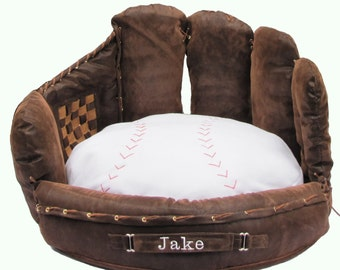 Personalized Baseball Mitt Pet Bed