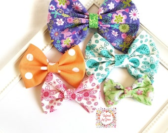 Spring Bow Box/Bow Pack/Flower Bows/Spring Bows/Daisy Bows/Floral Bows/Cotton Bows/Bow Set/Floral Spring Bows/Bow Box/Spring Pastel Bow Box