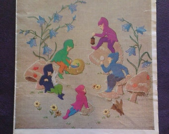 Bedtime Story (Fairy Tale Scene) - Briggs A79 - Vintage 1950's Embroidery Transfer Sheet