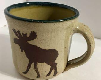 Rare Monroe Salts Works Maine Moose 16oz. Mug Cup