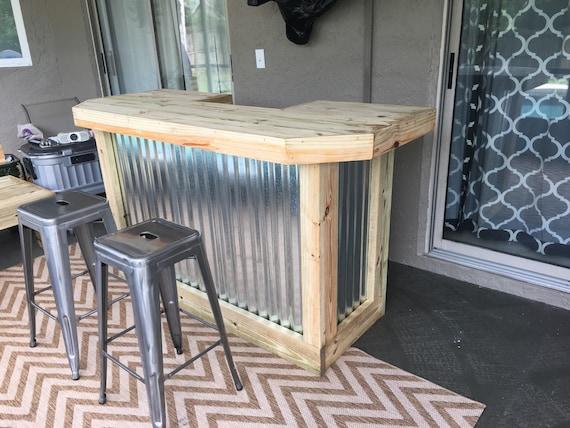The Metal Foo Bar 6 Rustic Corrugated Metal And Treated