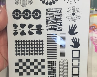 IN STOCK -- PTP Elements - Red Rubber Stamps Unmounted Sheets - Set #5