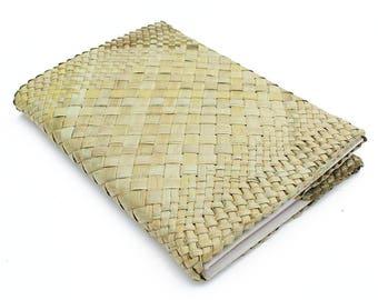 Woven Harakeke A5 Journal - Raranga - Coptic Bound - Kiwiana - New Zealand