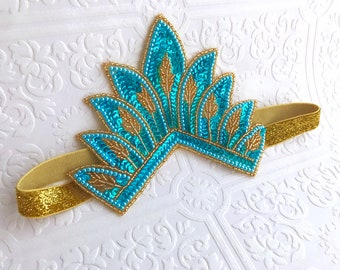 The Teal and Gold Crowning Glory Crown
