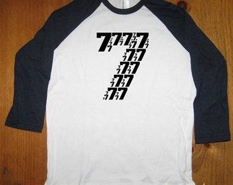 Birthday Shirt - 7 year old shirt - 7th birthday - Birthday Party Shirt - Raglan Tee Shirt - Seven Shirt - Gift Friendly - Girl or Boy