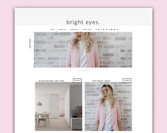 Bright Eyes   Responsive Minimalistic Premade Blogger Template