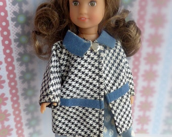 VINTAGE DOLL RAINCOAT or Spring Coat - perfect for most 7in/17cm dolls like Amanda Jane, Garden Gals, Mini American Girl