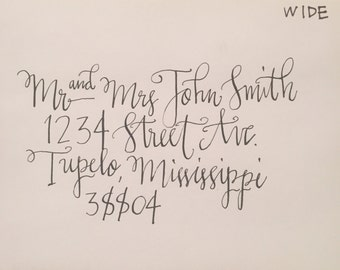 Handwritten Calligraphy for Envelopes and Cards