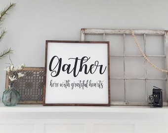 Gather Wall Decor Farmhouse Sign Dining Room
