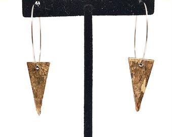 Triangle Birch Bark Earrings