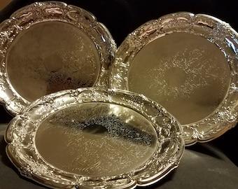 Leonard Silverplate HongKong Tray~ Platter ~ 6