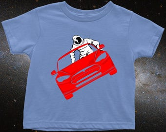 Toddler Size Starman Shirt for Future Scientists and Children of Spacex, Tesla, and Elon Musk Fans, Toddler Science Shirt, Nerdy Kid Gift