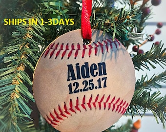 Personalized Baseball Ornaments, Christmas Tree Ornaments, Baseball Ornaments, Sports Ornament, Baseball decorations, Tree Decor, Christmas