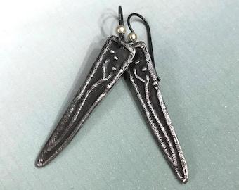 Sterling Silver Seed Pod Earrings