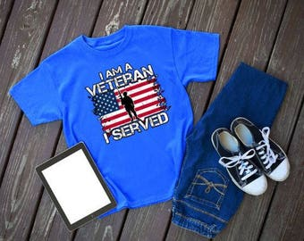 I Am a Veteran I Served Women's Short Sleeve T-shirt Thank You for Your Service; Served in the Army, Navy, Air-Force, Marines or Reserves