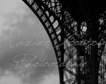 One of the arches of the Eiffel Tower, Paris, France. One of the arches of the Eiffel Tower, Paris, France.