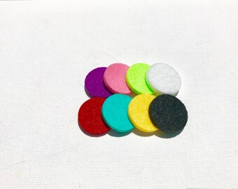 aromatherapy felt pads diffuser pendant replacement pads ,diffuser locket replacement pads ,essential oil necklace replacement pads