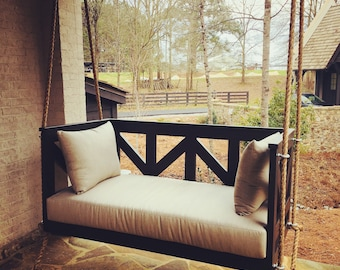 """Wooden Porch Bed Swing - """"The Reba"""" Custom Made to Order"""