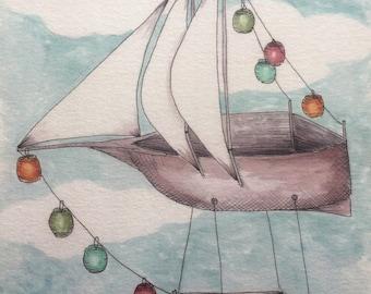 Lantern Airship print