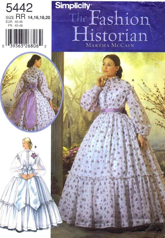Bürgerkrieg südlichen Bell Kleid Hochzeit Reenactment Martha