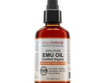 4oz Emu oil 100% Pure Organic Australian Emu Oil