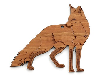 Red Fox Ornament - Made in the USA with sustainably harvested wood! - Timber Green Woods.
