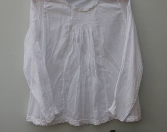 Somewhen Else, clothing of another time, place. Cotton voile, lace, smocking, smocked, semi sheer, romantic, shabby chic.
