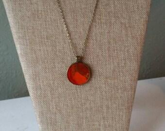 Lava Flow (#3) - Fluid art necklace pendant