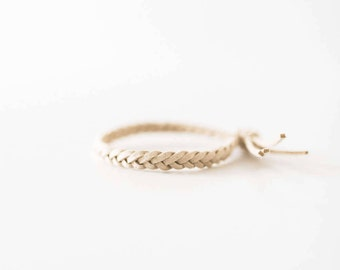 SAND TASSEL Essential Oil Diffuser Bracelet, Braided Faux Suede, Diffusing Bracelet