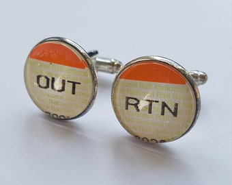 Train Ticket Cufflinks