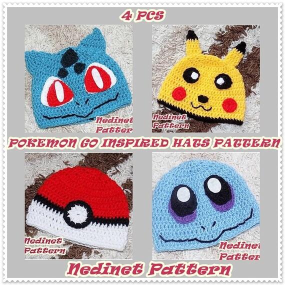 Crochet Pattern Pokemon Crochet Hat Pattern Pokemon Inspired
