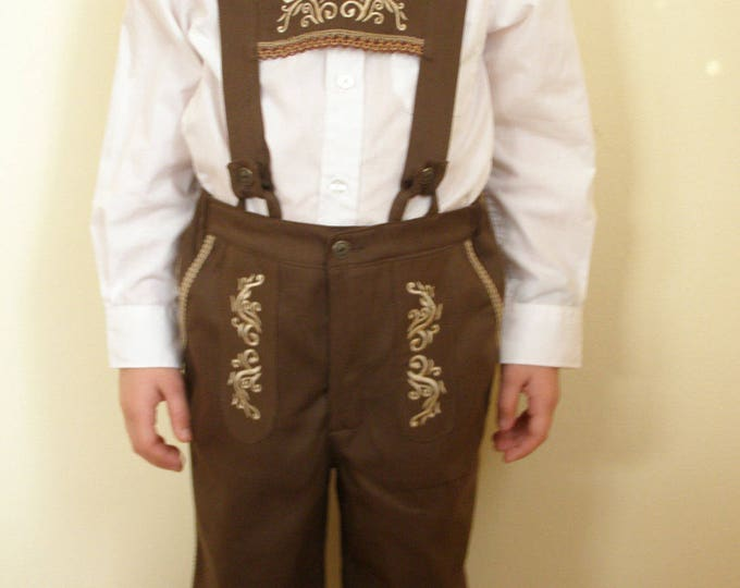 German beer festival outfit Brown Embroidered cotton r9vZYJ