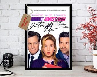 Bridget Jones Baby 2016 Renee Zellweger - Cast Autographed Movie Photo Print