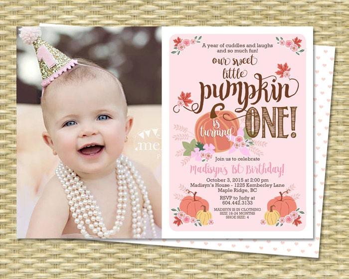 Our little pumpkin birthday invitation first birthday zoom stopboris Gallery