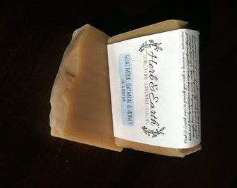 Oatmeal Honey Goat Milk Face and Body Bar Soap