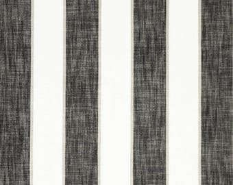 Black Stripe Cotton Upholstery Fabric-Fabric by the Yard-Bedding-Drapery-Upholstery-pillows